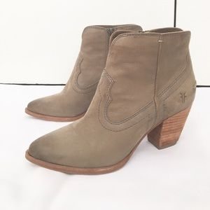 Frye Leather Cowboy Bootie